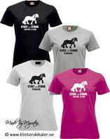 T-shirt Tinker-Irish Cob. Stolt och Stark  (27 olika färgval, dam och unisex/herr)