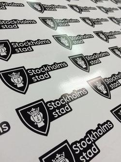 Stickers Stockholms city