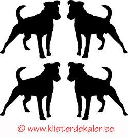 Miniature 4-pack Standing dog