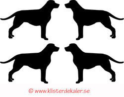 Miniature 4-pack Labrador