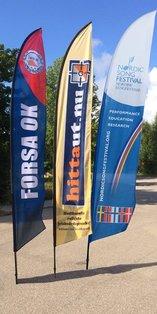 Beach flag till Hittaut.nu, Nordic Song Festival