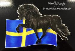Icelandic horse Denmarks flag