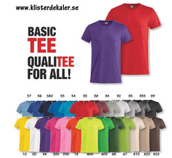T-shirt Basic T  (25 färgval, unisex vuxen+junior)
