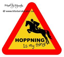 Kylskåpsmagnet Hoppning is my thing!