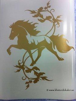Enkel Islandshäst 23 med snygg dekor 1