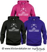 Hoody Islandshäst, Proud and strong  (flera olika färgval)
