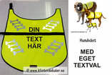 Reflective vest DOG Whit you own print