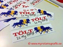 Triple 7 Tölt is my thing sticker