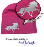 Reflexmössa singel Islandshäst, flera färgval.