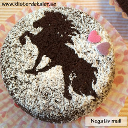 Schablon Islandshäst