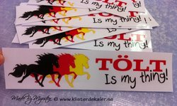 Triple 6 Tölt is my thing sticker