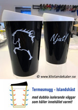 Thermo mug with Icelandic design.