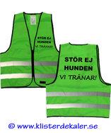Reflexväst STÖR EJ HUNDEN - VI TRÄNAR. Grön