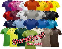 Ladies T-shirt nya Classic  (27 olika färgval)