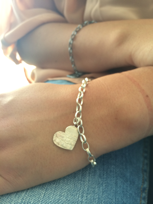Armband Hjärta Krokoko