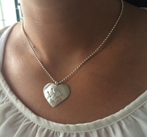 Halsband Flätat hjärta