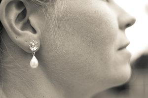 Örhänge Liten Kurbitsblomma med pärla