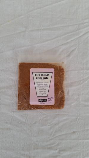 Krydda, Bbq dallas chili rub, grillkrydda, 50gr, Aftek
