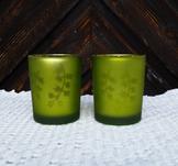 "Glaslykta med mönster ""Grön"" 8 cm, Different design"