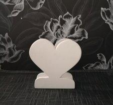 Servettställ, hjärta, vit, 12cm