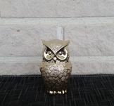 Uggla i guld keramik, 3,5x5x8,5cm