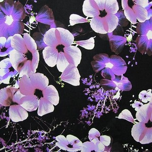 Black with purple flowers