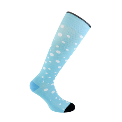 Dotty Blue compression socks