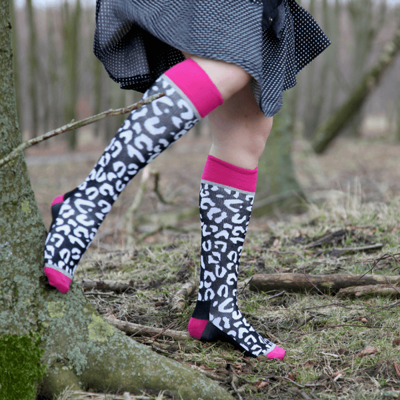Funky Black compression socks