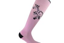 Flourish Pink stödstrumpor