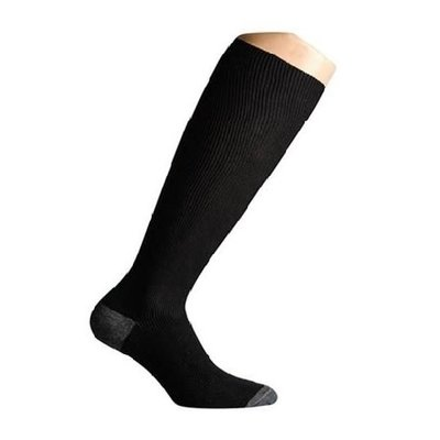 Support socks twist black and grey