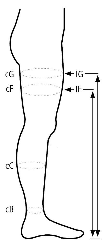 Kompressions-strumpbyxa med ett ben