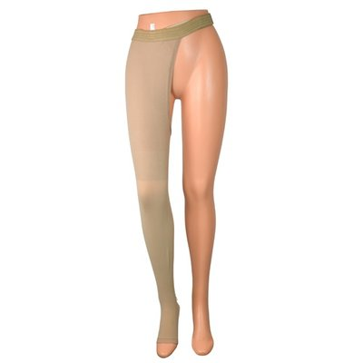 Collant de contention simple, 1 jambe + pied ouvert