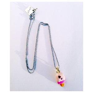 Halsband Glasspinne