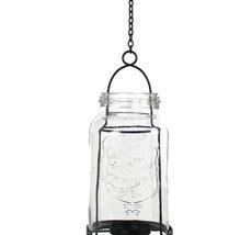 Hängande ljuslykta - klarglas/metall