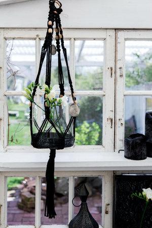 Majas Cottage - Makrame hängande glasvas/lykta