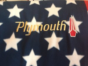 Plymouth USA pläd