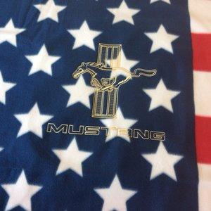Mustang old USA pläd