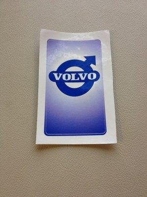 Volvo klistermärke/skattemärke