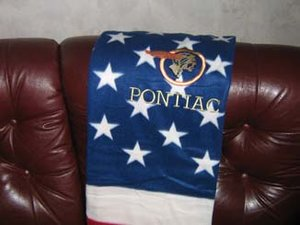 Pontiac old USA pläd