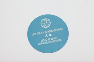 IOGT-NTO:s alkoholrådgivning flyer/visitkort
