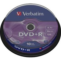 DVD+R Verbatim 10pk, 4.7GB, 16x, spindle