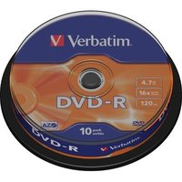 DVD-R Verbatim 10pk, 4.7GB, 16x, spindle
