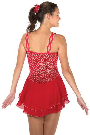Röd klänning med flätade axelband