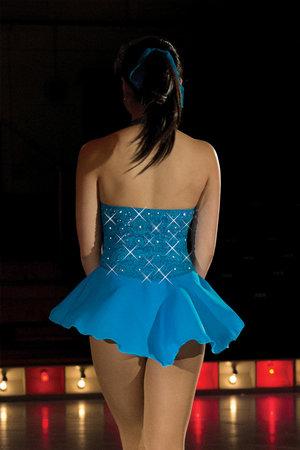 Turkos klänning med Swarovski