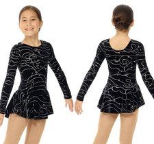 Svart klänning med glittermönster