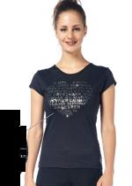 T-shirt från Sagester med silver text