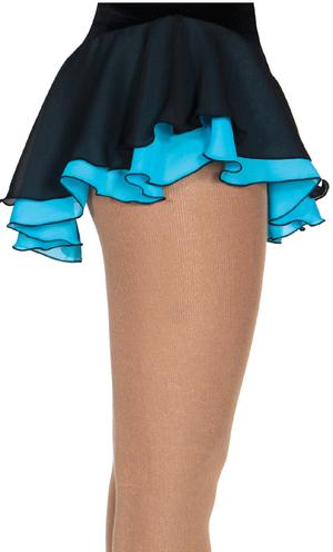 Svart kjol med underkjol i blått