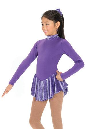 Lila klänning i polarfleece