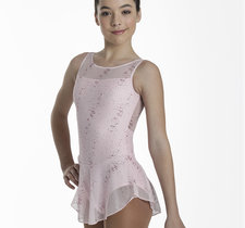 Ärmlös klänning i rosa eller marinblått