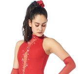 Röd tävlingsklänning i spets från Sagester